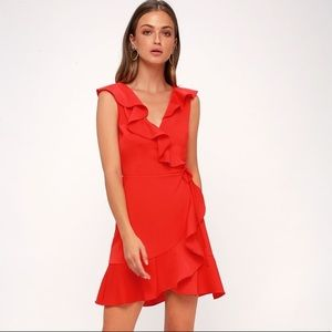 J.O.A. Anthropologie Jennessa Ruffle Dress